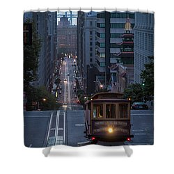 Morning Commute Shower Curtain by JR Photography