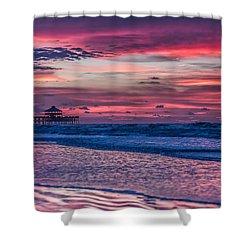 Morning Divide - Folly Beach Sc Shower Curtain
