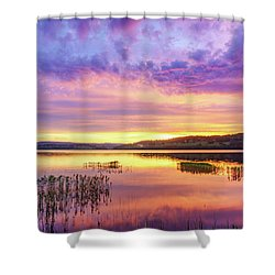 Shower Curtain featuring the photograph Morning Fire by Dmytro Korol