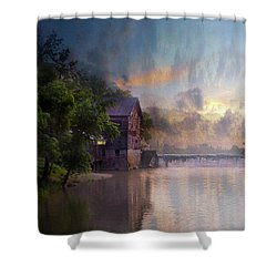Shower Curtain featuring the photograph Morning Fishing  by Joel Witmeyer