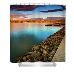 Morning Fleeting Light Shower Curtain by John De Bord