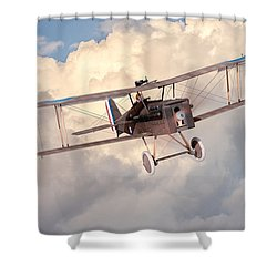 Morning Flight - Se5a Shower Curtain by David Collins
