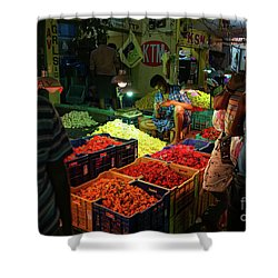 Shower Curtain featuring the photograph Morning Flower Market Colors by Mike Reid