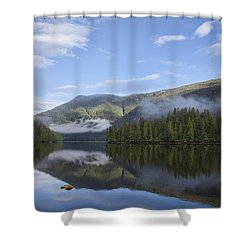 Morning Fog Clearing Shower Curtain by Michele Cornelius