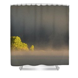 Morning Fog On Jackson Lake Grand Teton National Park  Shower Curtain