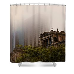 Morning Fog Over The Treasury Shower Curtain
