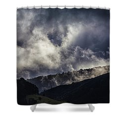 Morning Fog,mist And Cloud On The Moutain By The Sea In Californ Shower Curtain