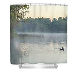 Morning Gathering Shower Curtain