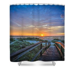 Morning Glory 2 Shower Curtain by Mina Isaac