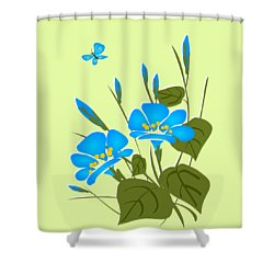 Morning Glory Shower Curtain by Anastasiya Malakhova