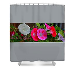Morning Glory Banner Shower Curtain