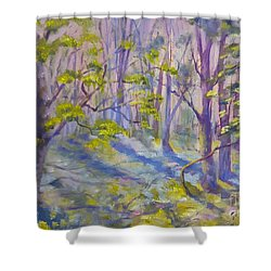 Morning Glory Shower Curtain by Genevieve Brown