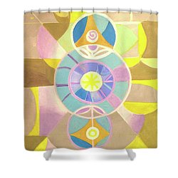 Morning Glory Geometrica Shower Curtain