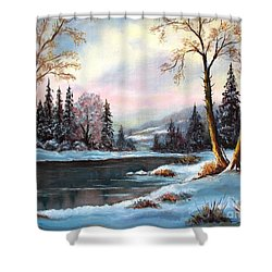 Shower Curtain featuring the painting Morning Glory by Hazel Holland