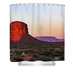 Morning Glory In Monument Valley Shower Curtain