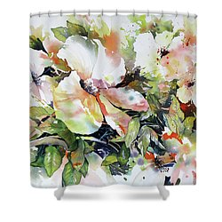 Morning Glow 2 Shower Curtain by Rae Andrews
