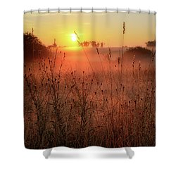 Shower Curtain featuring the photograph Morning Glow 2016 by Bill Wakeley