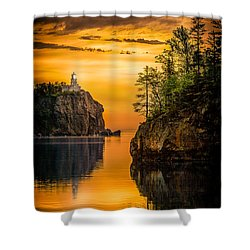 Shower Curtain featuring the photograph Morning Glow Against The Light by Rikk Flohr