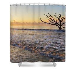 Morning Glow At Botany Bay Beach Shower Curtain