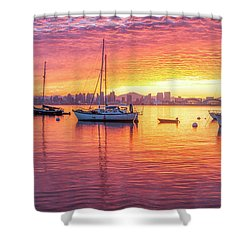 Morning Glow Shower Curtain by Joseph S Giacalone