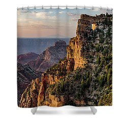 Morning Glow On Angels Window Shower Curtain