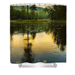 Morning Glow On Lake Shower Curtain
