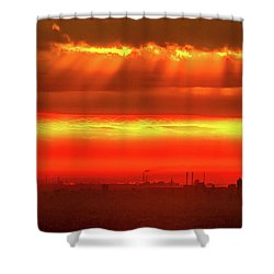 Shower Curtain featuring the photograph Morning Glow by Tatsuya Atarashi