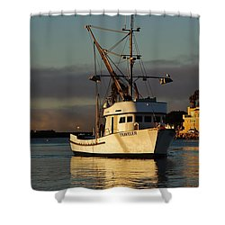 Morning Harbor Light Shower Curtain