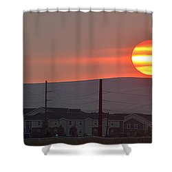 Shower Curtain featuring the photograph Morning Has Broken by AJ Schibig