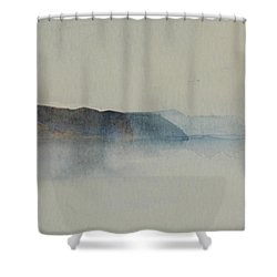 Morning Haze In The Swedish Archipelago On The Westcoast.2 Up To 28 X 28 Shower Curtain