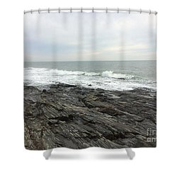 Morning Horizon On The Atlantic Ocean Shower Curtain