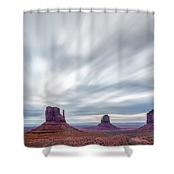Shower Curtain featuring the photograph Morning In Monument Valley by Jon Glaser