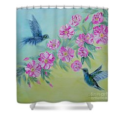 Morning In My Garden. Special Collection For Your Home Shower Curtain