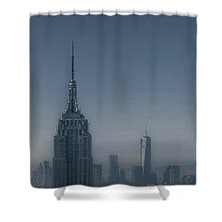 Morning In New York Shower Curtain by Chris Fletcher