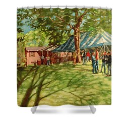 Morning In Ringgold Shower Curtain by Janet McGrath