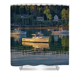 Shower Curtain featuring the photograph Morning In Tenants Harbor by Rick Berk