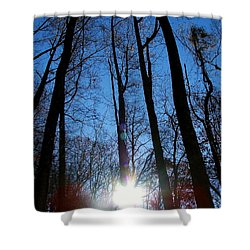 Morning In The Mountains Shower Curtain by Robert Meanor