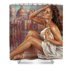 Morning In Venice Shower Curtain by Arthur Braginsky