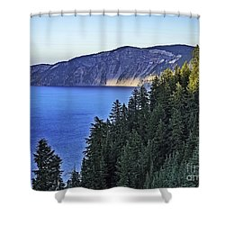 Morning Light At Crater Lake, Oregon Shower Curtain