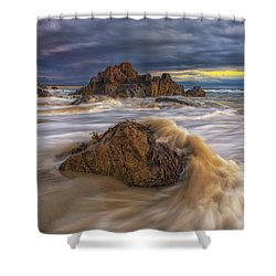 Morning Light At Marginal Way Shower Curtain