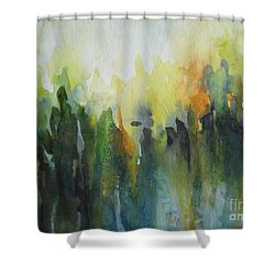Shower Curtain featuring the painting Morning Light by Elena Oleniuc