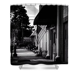 Morning Light In Murphy Nc In Black And White Shower Curtain
