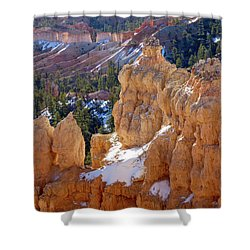 Morning Light On Hoodoos Shower Curtain by Amelia Racca