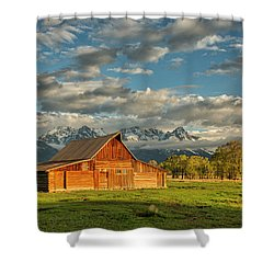 Morning Light On Moulton Barn #2 Shower Curtain