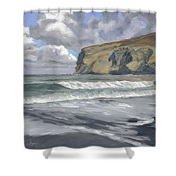 Morning Light On Pencannow Point Shower Curtain