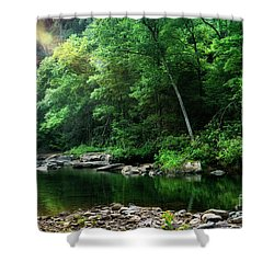 Morning Light On Williams River  Shower Curtain