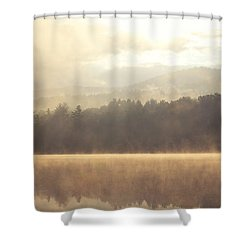 Morning Light Over The Mountains Shower Curtain by Stephanie McDowell