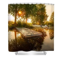 Shower Curtain featuring the photograph Morning Light by Rose-Maries Pictures