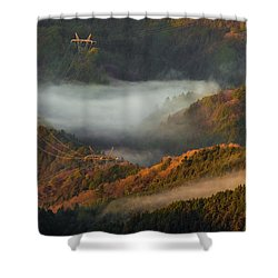 Shower Curtain featuring the photograph Morning Light by Tatsuya Atarashi