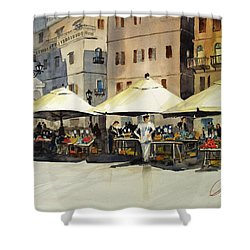 Morning Market Shower Curtain